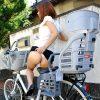 子供乗せ自転車ママチャリに乗る人妻熟女を盗撮した街角エロ画像