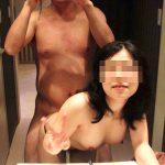 超ノリノリな変態夫婦がラブホテルでSEXを楽しむハメ撮りエロ画像