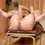 マゾ人妻熟女がアナルに大量浣腸されて逆噴射する屈辱のSM肛門エロ画像
